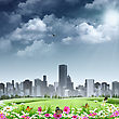 City As Background. Abstract Natural Backgrounds stock illustration