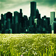 City As Background, Abstract Natural Landscape stock image
