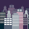 City At Night, Vector Eps10