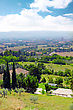 City Cview Of Assisi. Umbria Region . Italy stock image