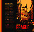 City Of Prague. Vector Illustration With The Timeline Design