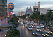 Symbolic City Traffic, Las Vegas, USA stock image