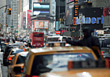 City Traffic, Manhattan, New York stock photo