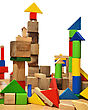 City Of Wooden Blocks Built By A Child stock photography