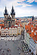 Cityscape Of Prague In Summer. River, Bridges stock photography