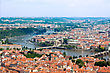 Cityscape Of Prague In Summer. River, Bridges