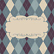 Classic Argyle Pattern With Space For Text. Vector, EPS10
