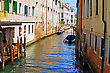 Classic View Of Venice With Canal And Old Buildings, Italy stock photography
