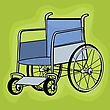 Clip Art Wheelchair Icons stock illustration