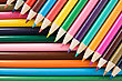Close Up Background Of Color Pencils Crayons stock image