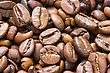 Close Up Background Of Roasted Coffee Beans stock image