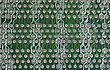 Close Up Of Computer Circuit Green Board stock photography