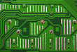 Close Up Of Computer Circuit Green Board stock photo