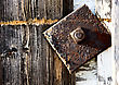 Close Up Door Latch Barn Canada Saskatchewan stock photo
