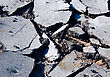 Rubble Close-up Of Destroyed Asphalt Pavement stock photography