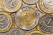 Economy Close Up Of A Lithuanian Currency Litas stock photography