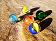 Close-Up Of Some Glass Marbles stock image