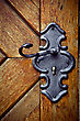 Close-up Of An Old Medieval Keyhole And Door stock photography