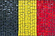 Close Up Of Old Vintage Mosaic Flag Of Germany With Texture