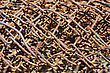 Close Up Texture Of Rust Wire Fence stock image