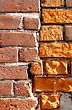 Close-up Of Very Old Brick Wall Background stock photography