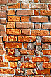 Close-up Of Very Old Brick Wall Background stock photo
