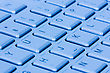 Close Up View Of Blue Computer Keyboard