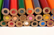 Draw Closeup Of Color Pencils stock photo