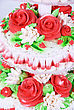 Closeup Photo Of The Red Wedding Cake stock photo