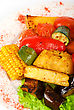 Closeup Of Tasty Assorted Grilled Vegetables I stock image