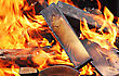 Closeup Of Very Hot Campfire, Outdoors, High Resolution