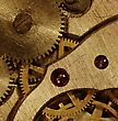 Closeup View Of The Old Mechanism. Abstract Techno Background stock photo
