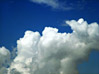 Fluffy Clouds In The Sky stock photography
