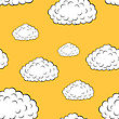 Clouds Seamless Wallpaper stock illustration