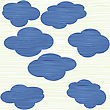 Clouds Texture Background stock illustration