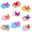 Clouds With Butterfly - Kids Toys stock photography
