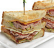 Club Sandwich With Ham And Bacon stock photography