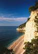 Coastline in Italy stock photography