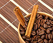 Coffee Coffe And Cinnamon stock photo