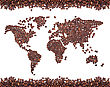 Coffee Map Made Of Beans stock image
