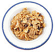 Cold Cereal In A Plate , Top View