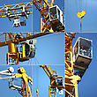 Collage Of A Crane stock photography