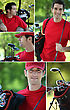 Collage Of A Golfer stock photo
