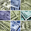 Collage Of Dollars USA stock image
