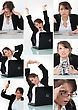 Collage Of Woman stock photography
