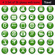 Collection Of Different Icons For Using In Web Design. Set #3. Travel