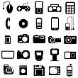 Collection Flat Icons. Multimedia Symbols. Vector Illustration