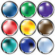Collection Of Glossy Web Buttons In Various Colors
