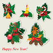 Collection Of Christmas Items stock illustration