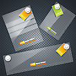 Collection Of Transparent Glass Banners